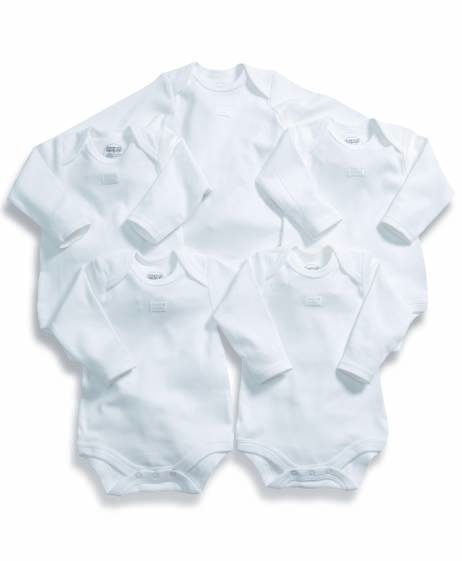 Long Sleeved Bodysuits (Set of 5)