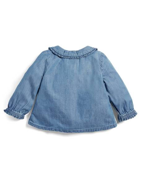 Chambray Collar Blouse