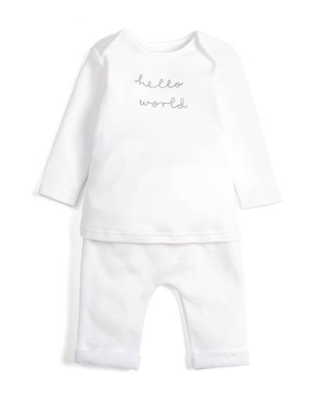 Hello World Bodysuit & Trousers Set
