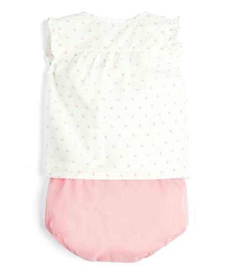 Blouse and Bloomer Shorts - 2 Piece Set