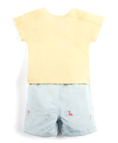 Embroidered T-Shirt & Shorts Set
