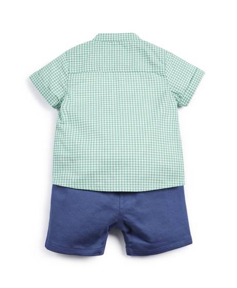 Gingham Shirt & Shorts - 2 Piece Set