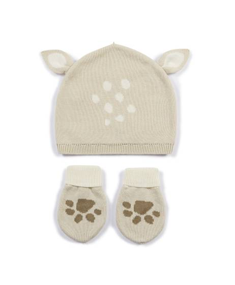 Fawn Hat & Mitts - 2 Piece Set