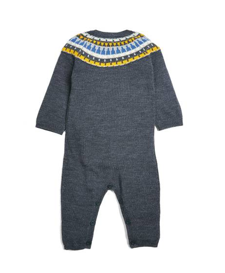 Fairisle Knitted Romper - Navy