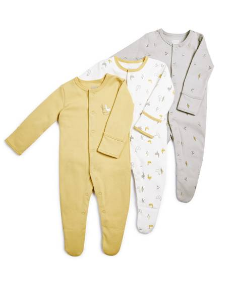 Duckling Sleepsuits - 3 Pack