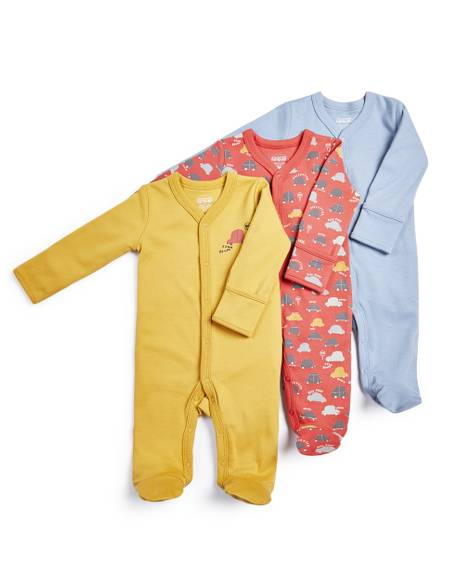 Car Sleepsuits - 3 Pack