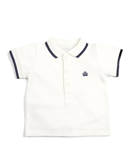 Embroidered Kitted Polo Shirt