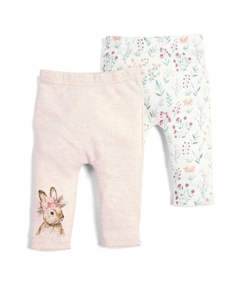Floral Rabbit Joggers - 2 Pack