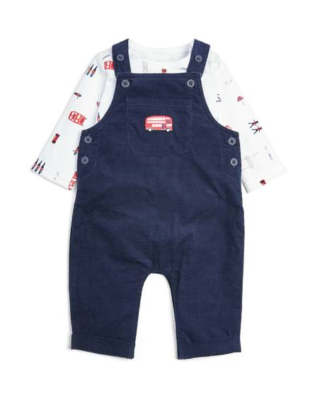 London Dungaree & Bodysuit - 2 Piece Set