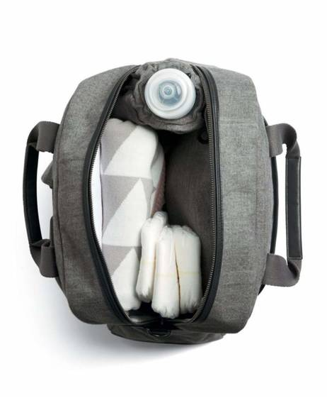 Bowling Style Changing Bag with Bottle Holder - Simply Luxe
