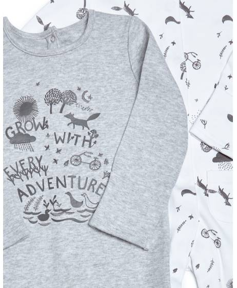 Adventure Jersey Sleepsuits - 2 Pack