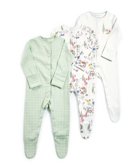 City Jersey Sleepsuits - 3 Pack
