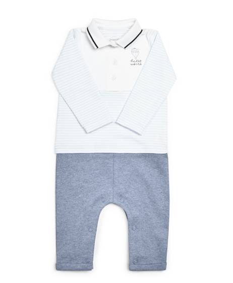Mock Polo Shirt Romper