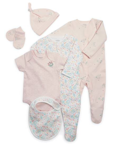 Pink Welcome to the World Clothing Gift Set - 6 Pieces