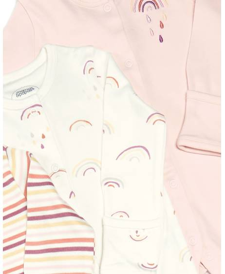 Rainbow Sleepsuit - 3 Pack