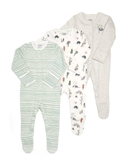 Boys Outback Sleepsuit -3 Pack