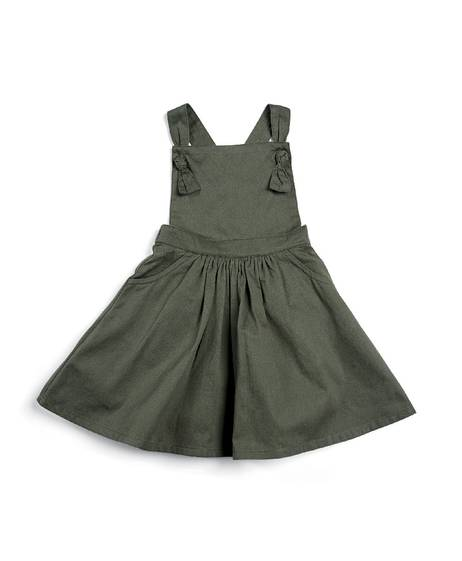 Twill Pinafore Dress