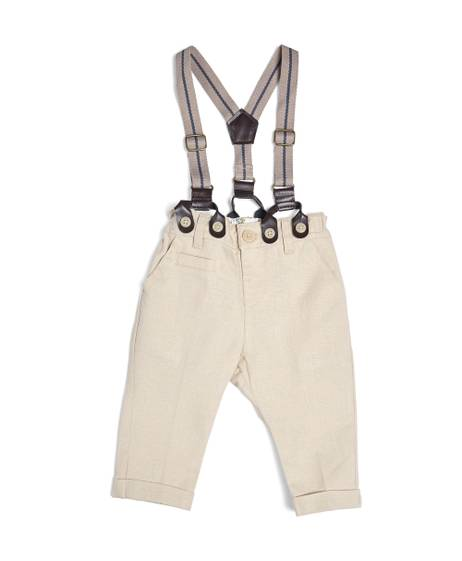 Linen Trousers With Braces