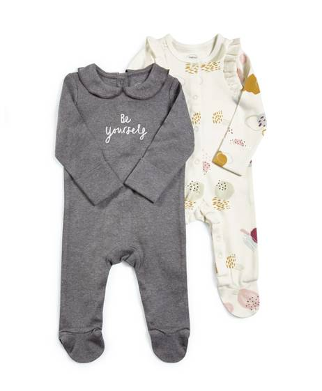 Slogan Jersey Sleepsuits - 3 Pack