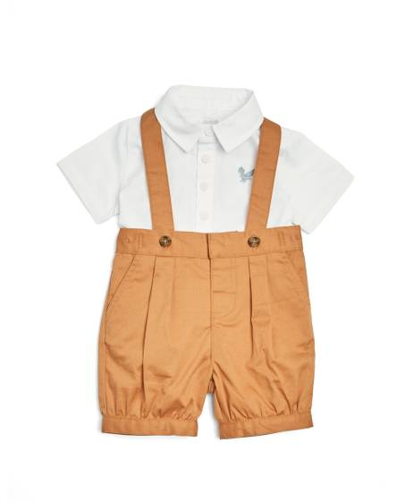 Shirt & Dungaree - 2 Piece Set