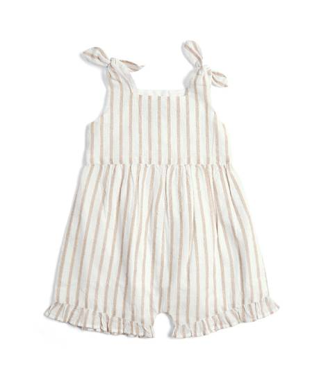 Metallic Striped Romper