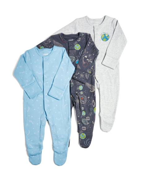 3 Pack of Rocket/Space Sleepsuits