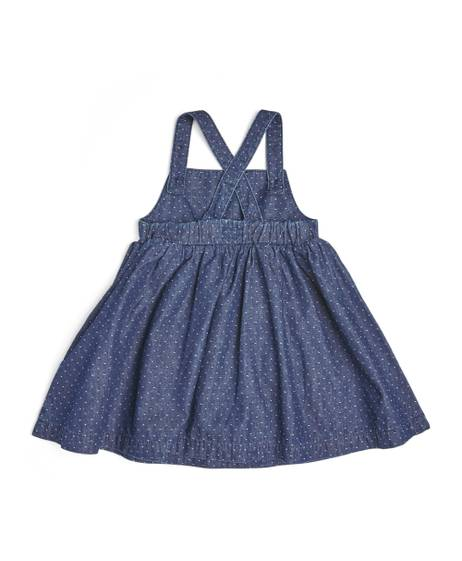 Blue Dobby Denim Pinnie Dress