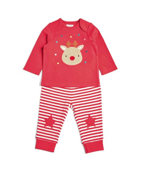 APPLIQUE REINDEER PJS