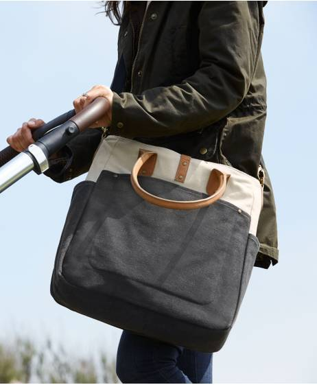 Orlie Changing Bag - Charcoal/Stone