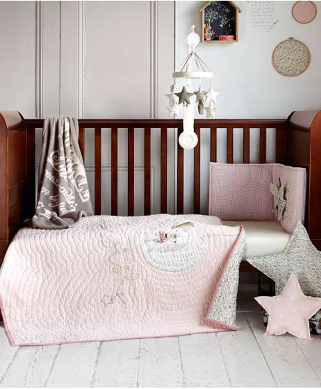 Millie & Boris - Girls Cotbed Coverlet