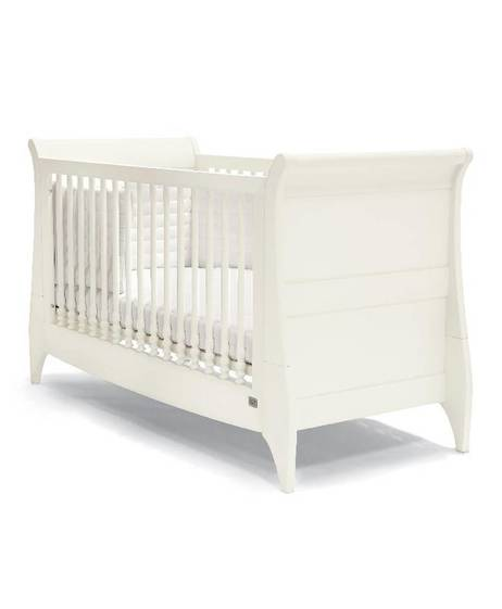 Oxford Sleigh Cot/Toddler Bed - Ivory