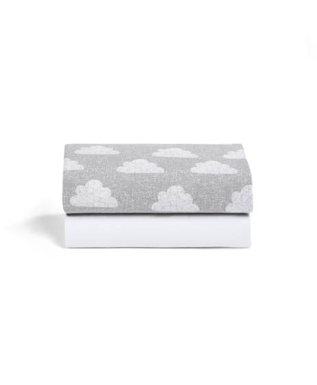 2 Pack Crib Fitted Sheets - Cloud Nine