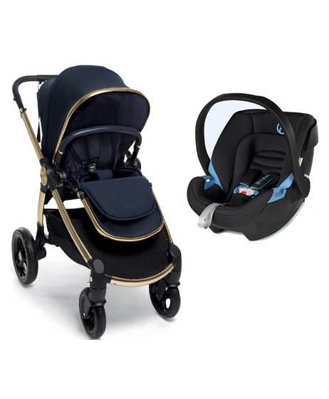 Ocarro Stroller - Midnight with Aton XXL Cosy Black