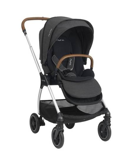 Nuna TRIV Baby Stroller with Rain Cover and Adapter - Caviar