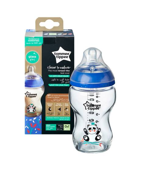 Tommee Tippee Closer To Nature Glass -250ML, Boy