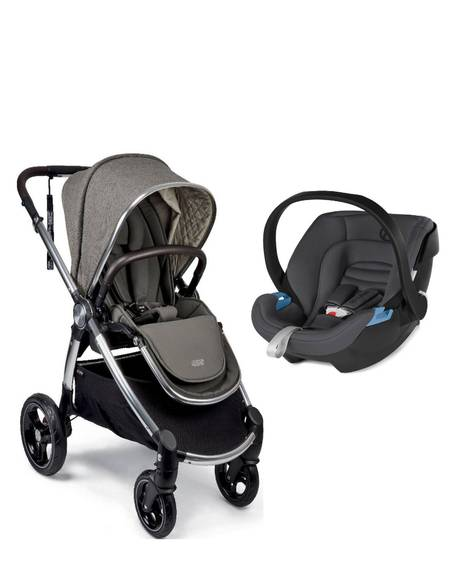 Ocarro Stroller - Walnut with Aton XXL Comfy Grey
