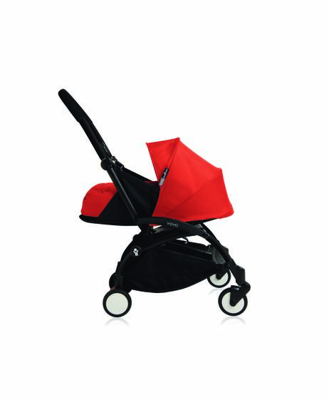 Babyzen YOYO Newborn Black Frame 2 Piece Set- Red