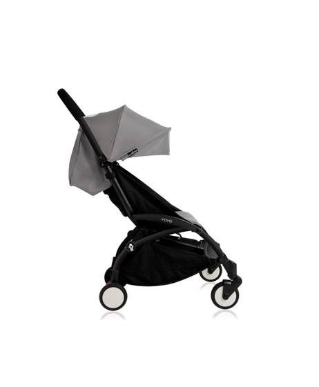 Babyzen YOYO Black Frame 6 Months+ 2 Piece Set - Grey