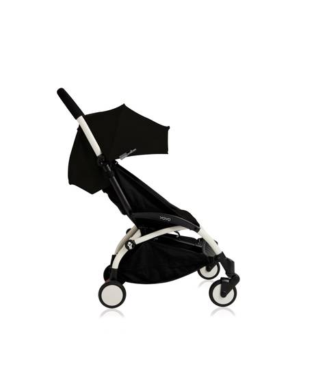 Babyzen YOYO White Frame 6 Months+ 2 Piece Set - Black