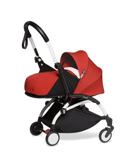 BABYZEN stroller YOYO² 0+ White Frame + Red color pack