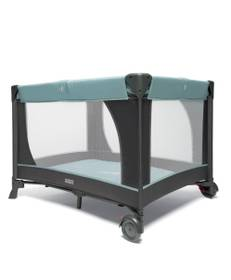 Classic Travel Cot - Mint & Grey