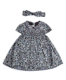Liberty London Sea Grass Dress & Headband - 2 Piece Set