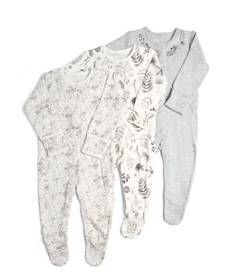 Monochrome Flower Sleepsuits - 3 Pack