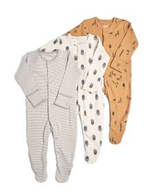 3 Pack ofNature Sleepsuits