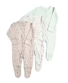 3Pack of  DITSY FLRL Sleepsuits